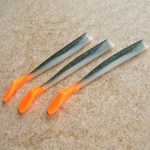Sayori Paddle Tail Soft Lure Jig Head Bass Fishing Tackle Swimbait Dropshot 22cm
