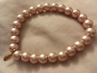 elasticared posh Vintage faux pearl bangle / bracelet LBVYR cream pearls