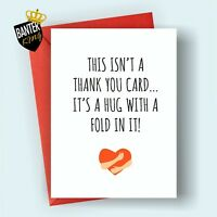 T1 THANK YOU GREETINGS CARD RUDE FUNNY CHEEKY WEDDING BIRTHDAY BABY