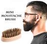 Customize Logo-Mini Boar Bristle Beard Brush Wood Handle Grooming Wholesale