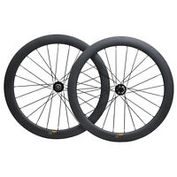 55mm Carbon Cyclocross Gravel Bike Wheel 700C Road Bicycle Wheelset Disc Brakes