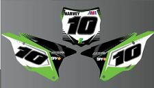 KAWASAKI KX KXF Number Boards with airbox Backgrounds Graphics Stickers decals