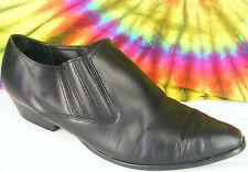 size 10 M vintage 80's black leather FLINGS cowboy boots shoes
