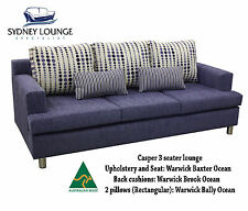AUSTRALIAN MADE Casper 3 seater lounge (Brook/Baxter Ocean) Sofa Couch
