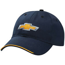 Chevrolet Chevy Gold Bowtie Licensed Cotton/Polyester Twill Navy Blue Hat