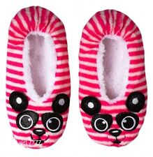 NWT Justice Girls Ballet Style PANDA Pink Wht Blk SLIPPERS Sz Small 2/3  $17