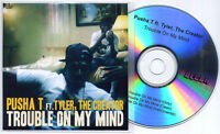 PUSHA T ft TYLER THE CREATOR Trouble On My Mind UK promo test CD dirty/clean