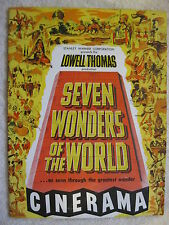 1956 Seven Wonders Of The World Cinerama Booklet