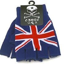 Unisex UK Flag England British Flag Fingerless Knit Gloves for Texting Warm