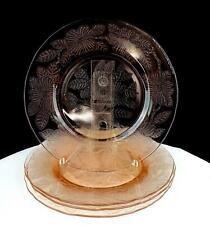 "MACBETH EVANS DOGWOOD PINK 4 PC DEPRESSION ERA GLASS 8"" LUNCHEON PLATES 1930-34"