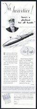 1931 Mullins Sea Eagle runabout boat art vintage print ad