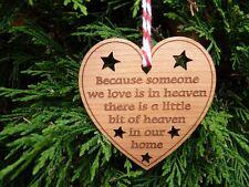 In MEMORIA DI Decorazione Natalizia Bauble condoglianze memoriale Ornamento di Natale