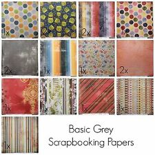 "Scrapbooking Paper Basic Grey Urban couture,  Lucky 17 Sheets 12"" x 12"""