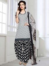 Elegant Crepe Designer Printed Patiala Unstitched Dress Material Suit.No GG207