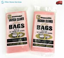 2  (6 Pack) G.E. Canister Type Cleaners Vacuum Filter Bags