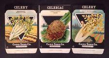 1930-40s Litho Antique Vintage Seed Packet Celeriac & Celery Card Seed Co Pack