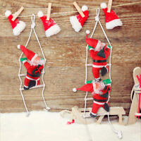 Xmas Santa Claus Climbing On Rope Ladder Christmas Tree Hanging Home Party Decor