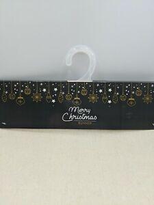 "Merry Christmas TableRunner 13"" X 70"" Cream pearls Sand dollar star fish"