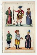 Ethnologie-Trachten-Asien-Schotte-Highlander - Kupferstich 1800 G. T. Wilhelm