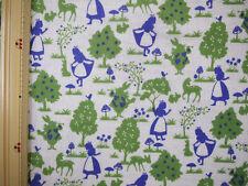 Alice in Wonderland Japanese Fabric / Double Gauze Purple Alice - 110cm x 50cm