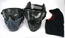 (Lot of 2) Paintball Masks w/Goggles JT, Winchester + Fabric Mask, Velcro, Blk,G