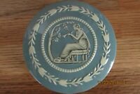 Vintage 1950's Baret Ware Miniature Metal Container - England-Blue & White Lady