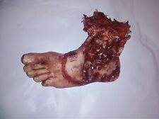 HORROR PROP severed mutilated male foot movie quality gore halloween death dead