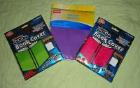 lot of 4*Book covers*Pink Purple*Green*Sox New Stretch Fabric text jumbo xxl
