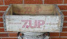 Vtg 7UP SEVEN UP Wooden Crate The Uncola Soda Bottle Drink Case Cincinnati Ohio