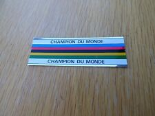 """CHROME """"CHAMPION DU MONDE"""" - RAINBOW DECAL / STICKER"""