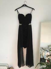 Women's Quiz strapless black slip dress Size 6excellent condition -FREE POSTAGE