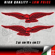 2 adesivi AQUILA MOTO GUZZI stickers eagle rosso nero GRISO CALIFORNIA CMG001