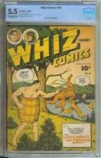 WHIZ COMICS #50 CBCS 5.5 OW/WH PAGES