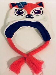 Girls Women's Critters Fox, Panda, Penguin Cozy plush Trapper Hat