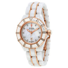 Bulova Accutron Mirador White Mother of Pearl Dial Ladies Watch 65R140
