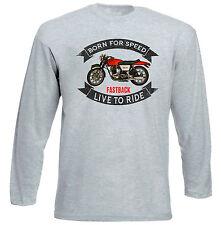 Norton Commando vintage-nouveau gris à manches longues T-Shirt-Toutes les tailles en stock