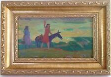 Armenian Art Gallery-Oil Painting,1950s Impressionism,Armenia,Untitled Field Sce
