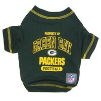 Green Bay Packers NFL Licensed Pets First Dog Tee Green, Sizes XS-XL