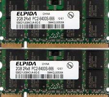 4GB (2x 2GB Kit) Apple iMac 20-inch 2.4GHz MB323LL/A DDR2 Laptop/Notebook Memory