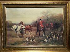 19th Century Style Reproduction Copy Artwork English Hunting Scene John Herring