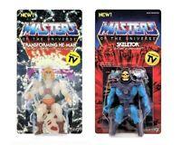He-Man Masters of the Universe HE-MAN(GITD) & SKELETOR Figures Super7 Unpunched