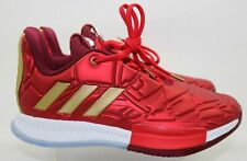 Adidas Marvel Harden Vol. 3 J Iron Man Red Silver Gold Ice EG2626 Youth Size 5.5
