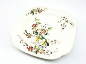 Copeland Spode England Flowers Botanical Tea Sandwich Plate 22cm