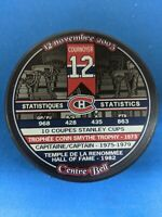 NHL MONTREAL CANADIENS YVAN COURNOYER LEGENDS PUCK #3 dated Nov.12, 2005