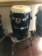 "Latin Percussion Lp Patato Model. M.Cohen.Congas set of 3 black. ""Rare"""