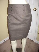 IZ Byer Women's Brown Plaids Pencil  Skirt Size 7