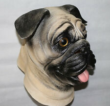 CARLINO CANE MASCHERA LATEX animale Costume CANINA HALLOWEEN ADDIO AL cebilato