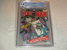 BATMAN 251 CGC 7.0 WHITE PAGES (DC 1973) NEAL ADAMS JOKER COVER