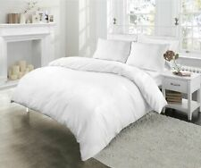Hotel~Quality 600 TC White Solid Duvet Fitted &Sheet Set 100% Egyptian Cotton