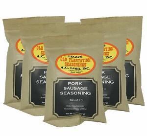 A.C. Legg #10 Pork Sausage Seasoning, 8 oz - 5 Pack